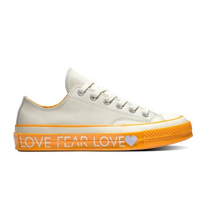 CHUCK 70 LOVE THE PROGRESS OX EGRET BOLD MANDARIN