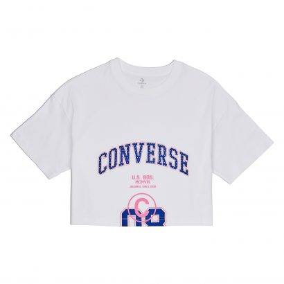 WOMEN CONVERSE 08 BOXY SHORT SLEEVE TEE WHITE
