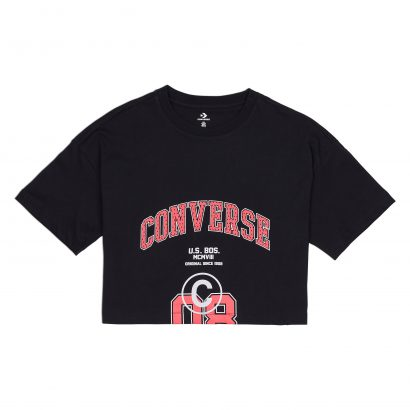 WOMEN CONVERSE 08 BOXY SHORT SLEEVE TEE BLACK