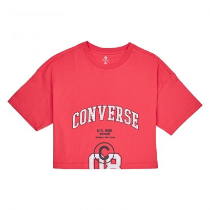 WOMEN CONVERSE 08 BOXY SHORT SLEEVE TEE RED