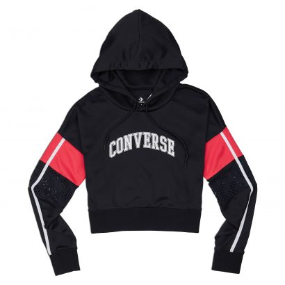 WOMEN BASKETBALL MASHUP MID HOODIE BLACK