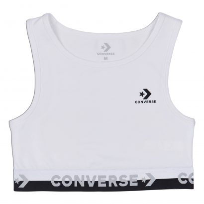 WOMEN CONVERSE HIGH NECK BRA WHITE