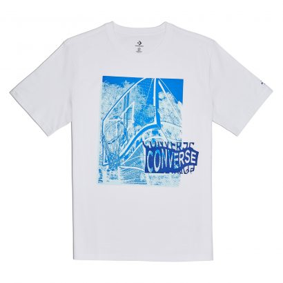 MEN CONVERSE HOOP THERE IT IS PHOTO TEE WHITE